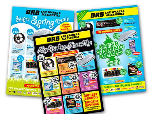 Direct mail catalogue graphic design