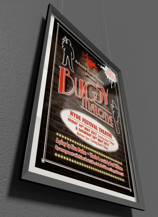 Poster design and printing for theatre show in Tameside.