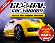 Car valeting leaflet design and printing