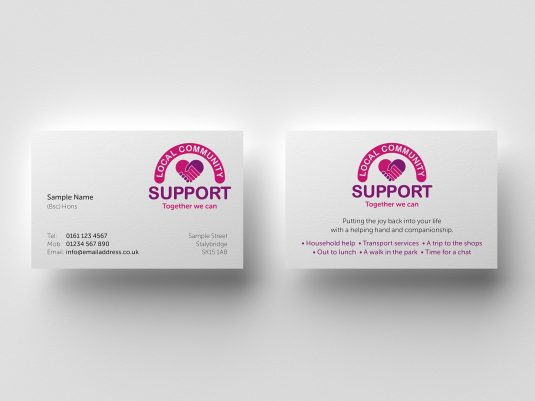 Community Business Card Design and Printing