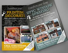 UPVC Spraying and Decorating Leaflet – Design and Print